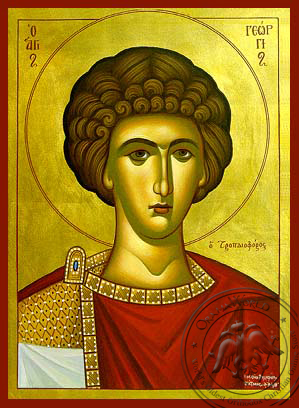 Saint George the Great Martyr, Bust - Hand Painted Icon
