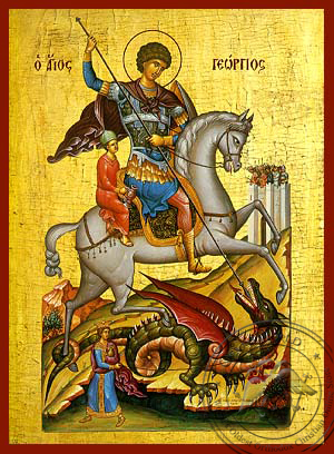 Saint George the Great Martyr, on Horseback - Hand Painted Icon