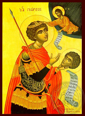 Saint George the Great Martyr, with Head - Hand Painted Icon