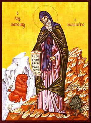 Saint Gerasimus of Jordan, Full Body - Hand Painted Icon