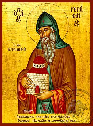 Saint Gerasimos - Hand-Painted Icon