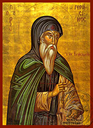 Saint Gerasimus the New Ascetic of Cephalonia, Greece - Hand Painted Icon