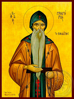 Saint Gregory the Sinaite - Hand Painted Icon