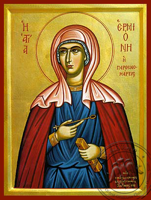 Saint Hermione - Hand-Painted Icon