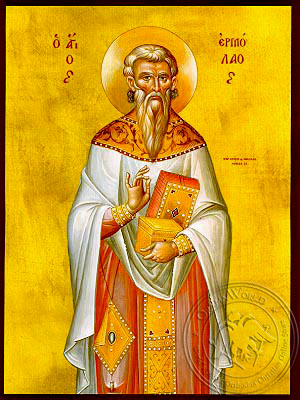 Saint Hermolaus, Hieromartyr - Hand Painted Icon