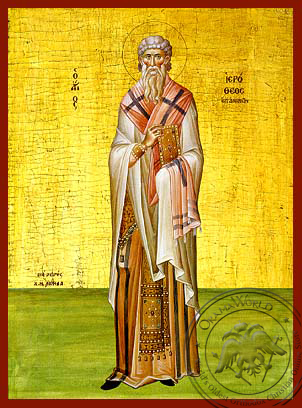 Saint Hierotheos of Athens - Hand-Painted Icon