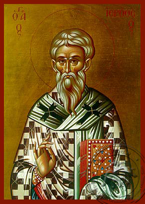 Saint Hierotheus, Hieromartyr, Bishop of Athens, Greece - Hand Painted Icon