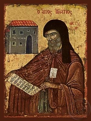 Saint Ignatios Agalianos the Wonderworker Archbishop of Mythemna Lesvos Greece - Hand Painted Icon