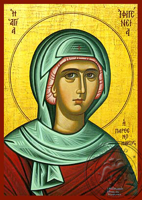 Saint Ifigenia - Hand-Painted Icon