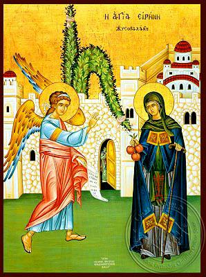 Saint Irene Chrysovalantou, Full Body - Hand Painted Icon
