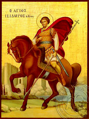Saint Isidoros of Chios - Hand-Painted Icon