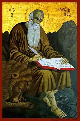 Saint Hieronymus - Hand-Painted Icon