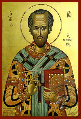 Saint John the Chrysostom Patriarch of Constantinople - Hand-Painted Icon