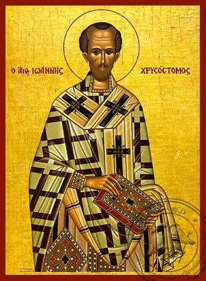 Saint John Chrysostom - Hand-Painted Icon