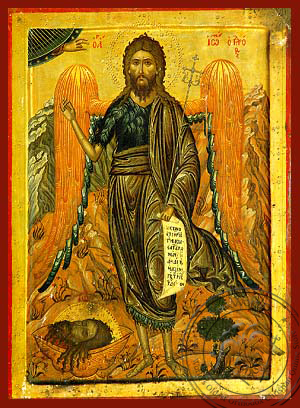 Saint John the Forerunner, Bird of Desert - Hand Painted Icon