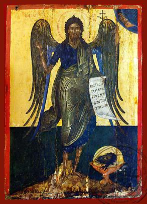Saint John the Forerunner, Bird of Desert - Hand Painted Icon
