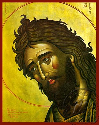 Saint John the Forerunner, Bust - Hand Painted Icon