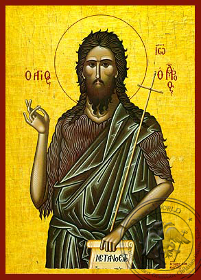 Saint John the Forerunner - Hand Painted Icon