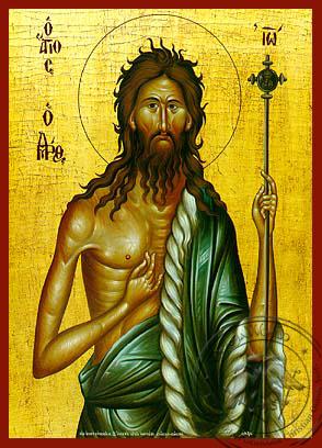 Saint John the Forerunner - Hand Painted Icon