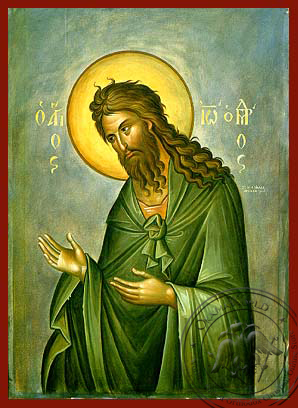Saint John the Forerunner, Supplicating - Hand Painted Icon