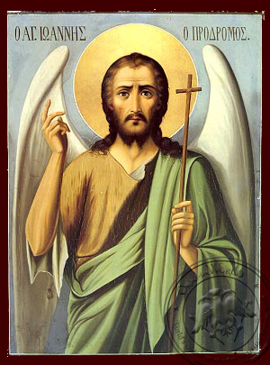 Saint John the Baptist - Hand-Painted Icon