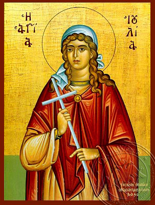 Saint Julia - Hand-Painted Icon