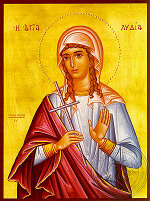 Saint Lydia, Martyr - Hand Painted Icon