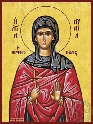 Saint Lydia of Philippi the Woman of Purple - Hand Painted Icon