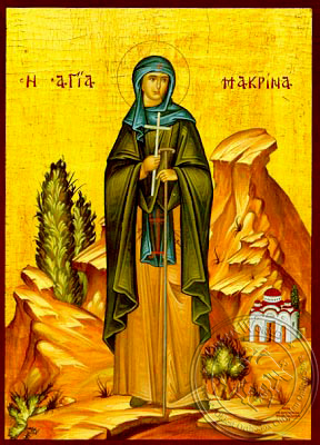 Saint Macrina, Sister of Saint Basil the Great, Full Body - Hand Painted Icon