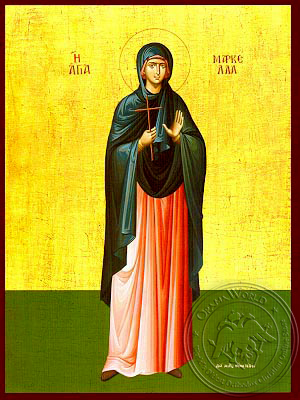 Saint Marcella, Martyr, of Chios, Greece, Full Body - Hand Painted Icon
