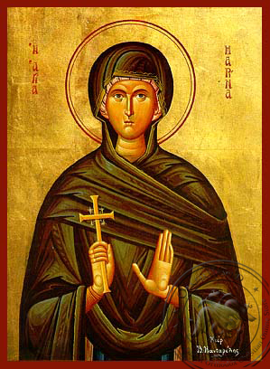 Saint Marina, the Great Martyr, of Antioch - Hand Painted Icon