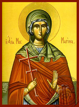 Saint Marina - Hand-Painted Icon