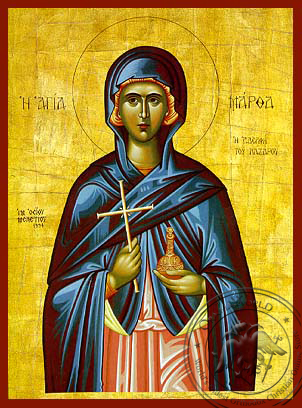 Saint Martha Sister of Lazarus - Hand-Painted Icon