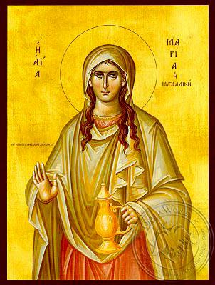 Saint Mary Magdalen, the Myrrh-Bearer - Hand Painted Icon