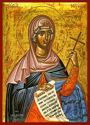 Saint Maura - Hand-Painted Icon