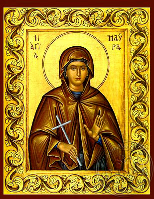 Saint Maura, Martyr - Hand Painted Icon