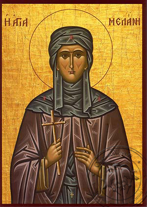 Saint Melania the Younger, Nun, of Rome - Hand Painted Icon