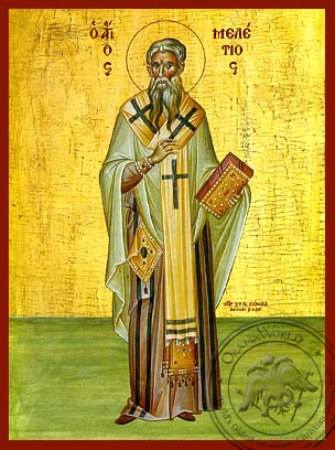 Saint Meletius, Archbishop of Antioch, Full Body - Hand Painted Icon