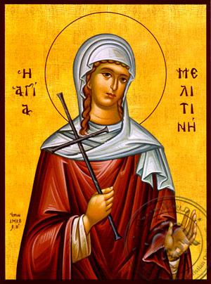 Saint Melitina of Marcianopolis, Martyr - Hand Painted Icon