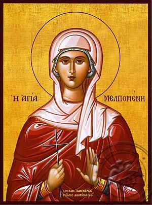 Saint Melpomene, Martyr - Hand Painted Icon