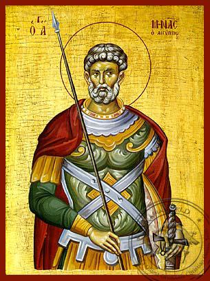Saint Menas - Hand-Painted Icon