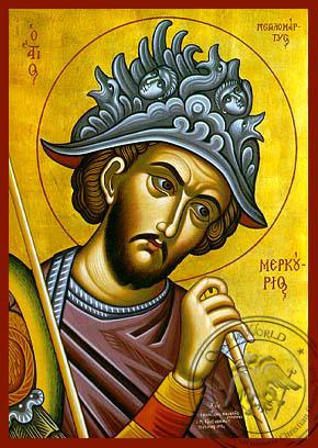 Saint Mercurios - Hand-Painted Icon