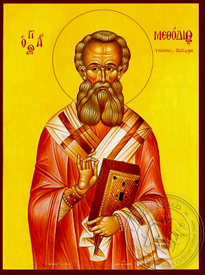 Saint Methodius, Hieromartyr, Bishop of Patara - Hand Painted Icon