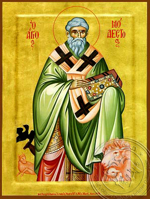 Saint Modestos - Hand-Painted Icon