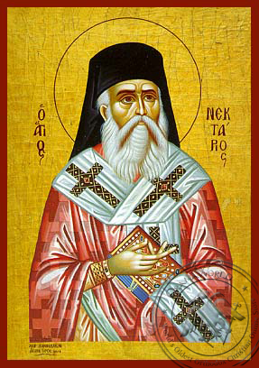 Saint Nectarius, Metropolitan of Pentapolis - Hand Painted Icon