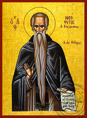 Saint Neophytos of Cyprus - Hand-Painted Icon