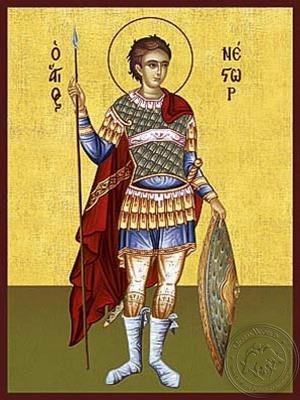 Saint Nestor Full Body - Hand Painted Icon