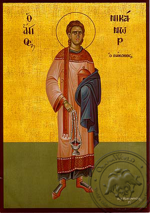 Saint Nicanor the Apostle and Deacon, Full Body - Hand Painted Icon