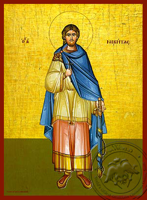 Saint Nicetas, the Great Martyr, Full Body - Hand Painted Icon