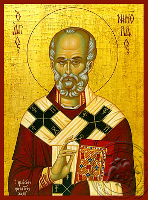 Saint Nicholas, Archbishop of Myra in Lycia - Hand Painted Icon